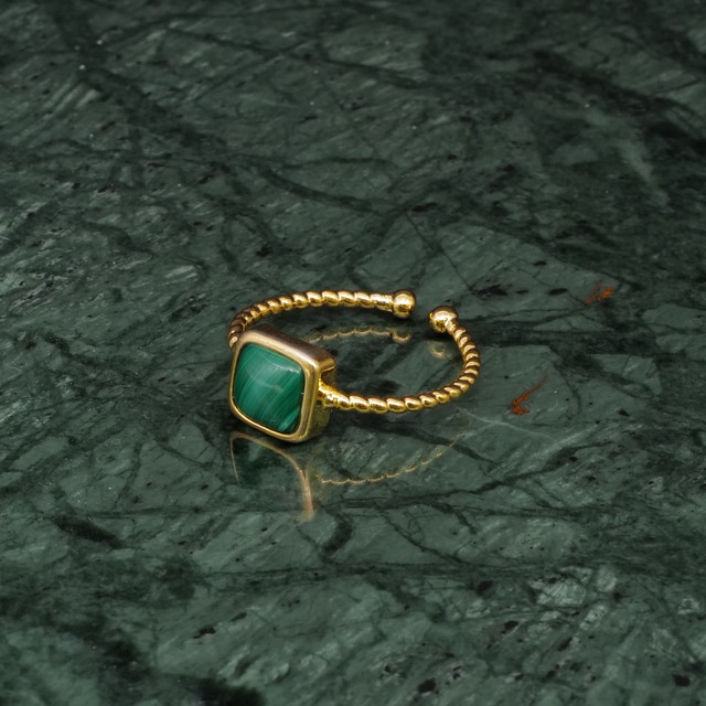SINGLE MINI STONE RING GOLD 042