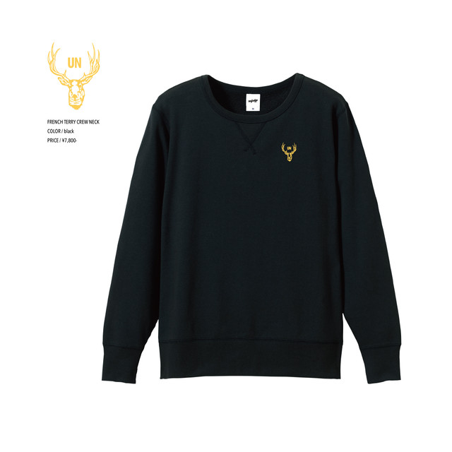 unfudge SWEAT CREW NECK / BLACK