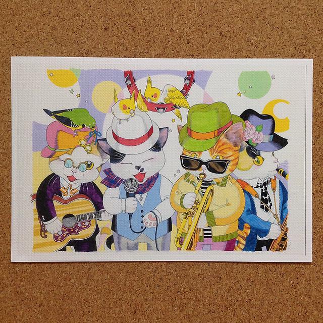 ネコの音楽隊 ポストカード