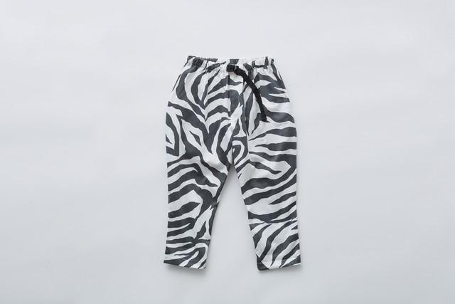 【21SS】eLfinFolk(エルフィンフォルク)zebra pants (90/100/110/120)  ゼブラ パンツ
