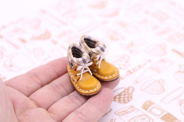 小さな革ブーツ|マンゴー裏地付