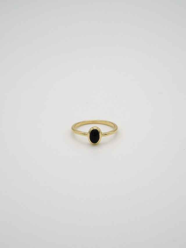 classic gem ring gold -onyx-(再入荷)