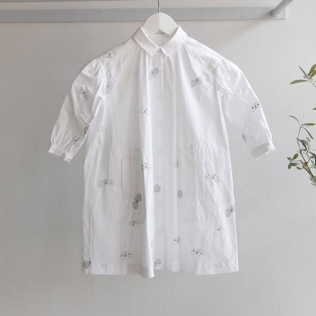 《mina perhonen 2017AW》choucho ワンピース / white / 100cm