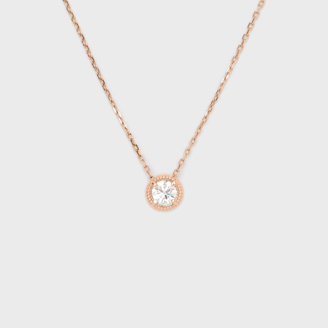 ENUOVE frutta Diamond Necklace K18PG(イノーヴェ フルッタ 0.3ct K18ピンクゴールド ミルグレイン ダイヤモンドネックレス スライドアジャスターチェーン)