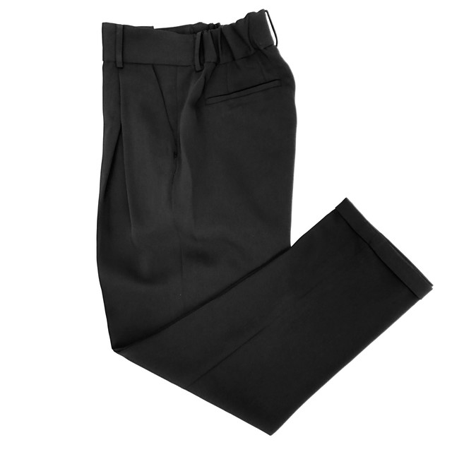 Formal Cross Tuck Pants/BLACK