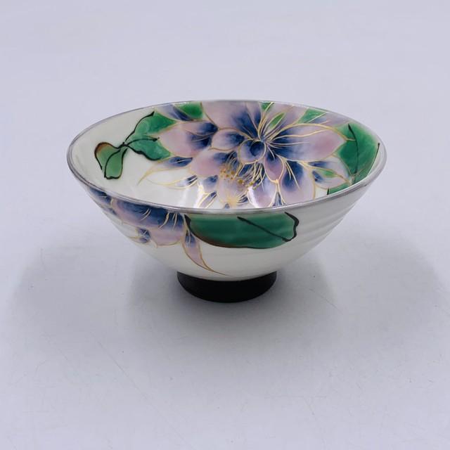【陶あん】~SALE~ 京焼 清水焼  月下美人 薄紫 指スジ朝顔型茶碗*限定2個*