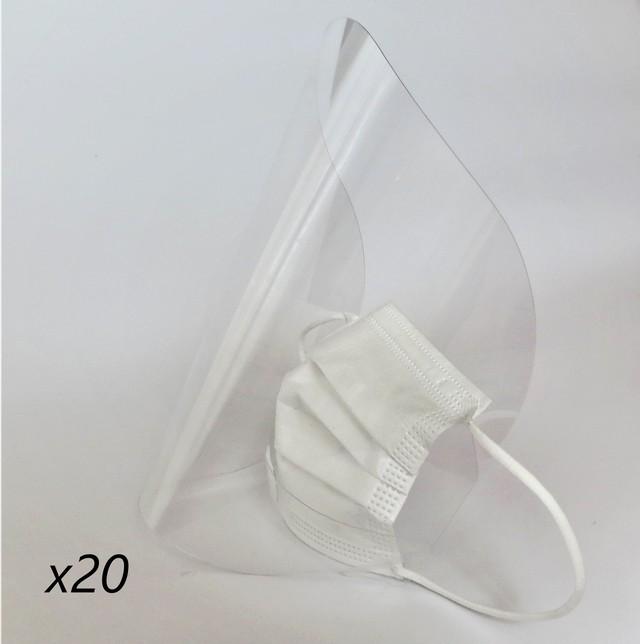 「マスクにつける」safety shield(20枚)