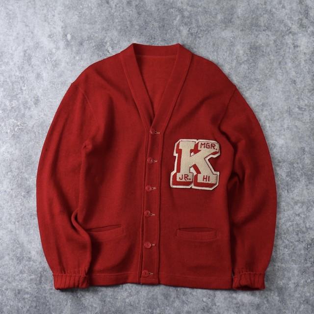 50's  Vintage  Lettered  Cardigan   50年代 ヴィンテージ レタードカーディガン 古着