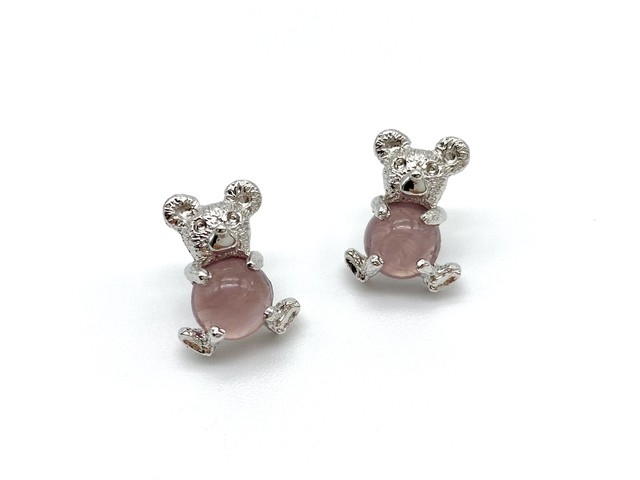 Teddy ー silver x smokeypink ー