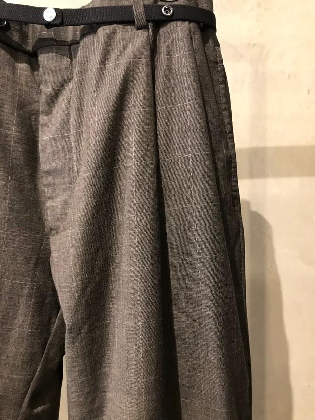 pre-fix oversized slacks with elastic belt - charcoal gray