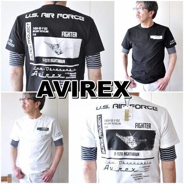 AVIREX  アビレックス  半袖Tシャツ  6103419 メンズ Tシャツ アメリカ空軍