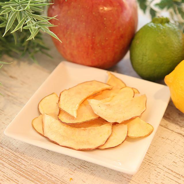 濃縮された天然の甘み♪ 完熟りんごチップス