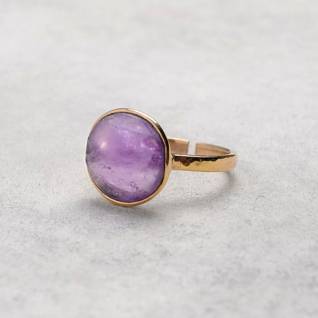 SINGLE STONE ADJUSTABLE RING 012