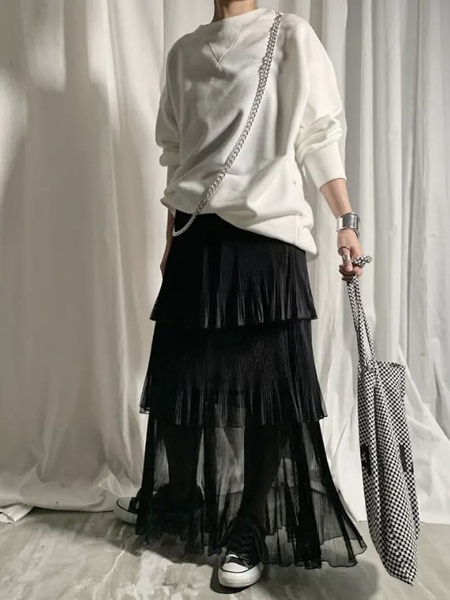 【PROVOKE】TULLE TIERED SKIRT
