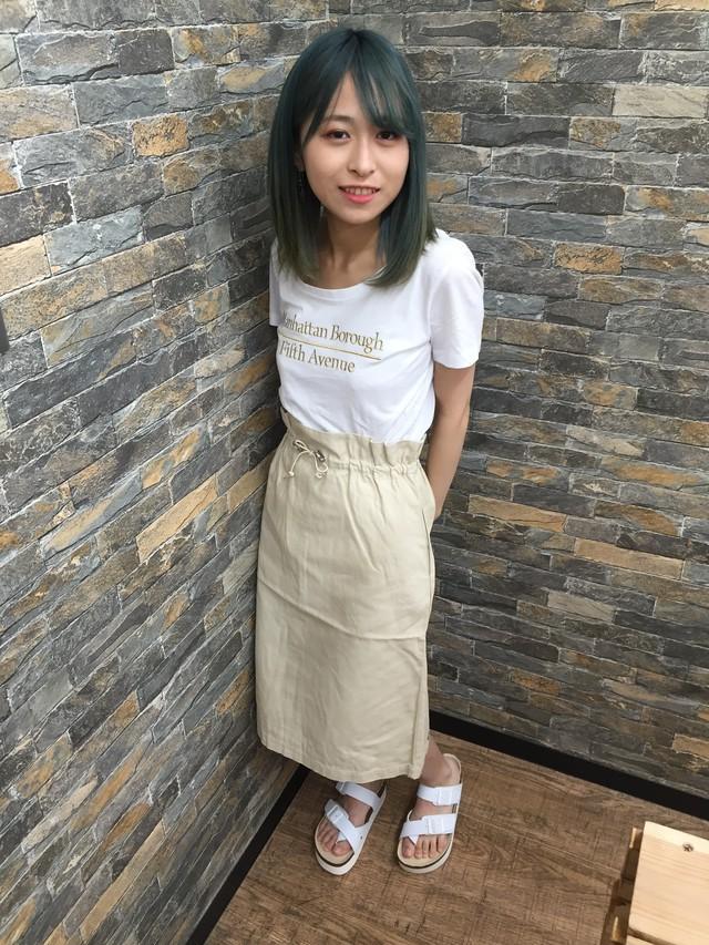ウエストゴム絞りスカート【4色】
