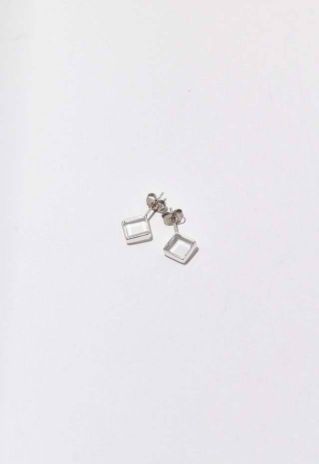 water square pierce Silver
