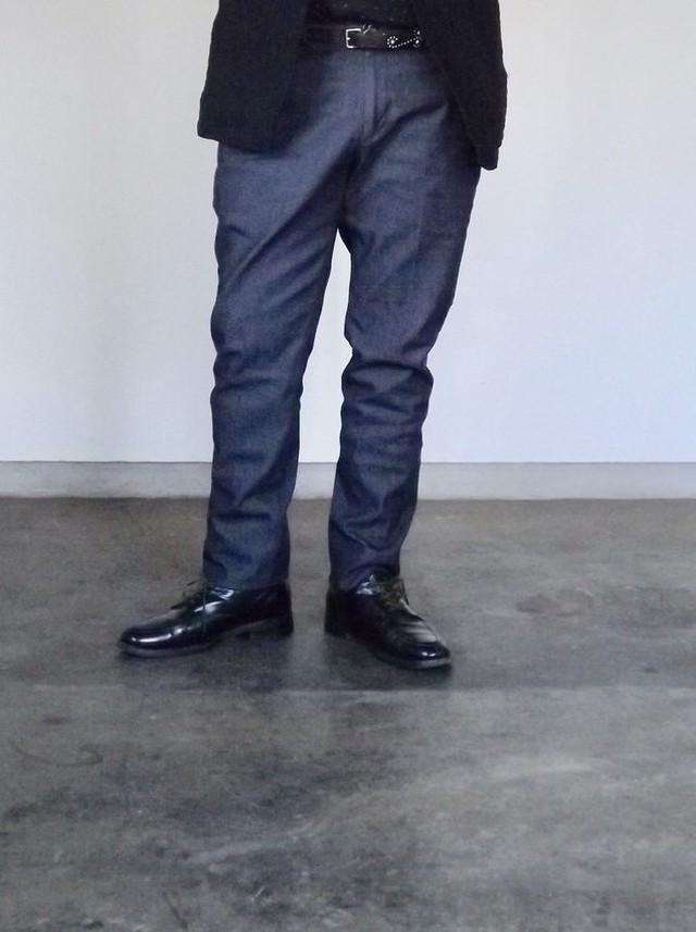 メンズ [CM001-Long]  デニムトラウザーズ (Long ver,) クロキデニム,ストレッチ,新作,日本製.丈詰め無料