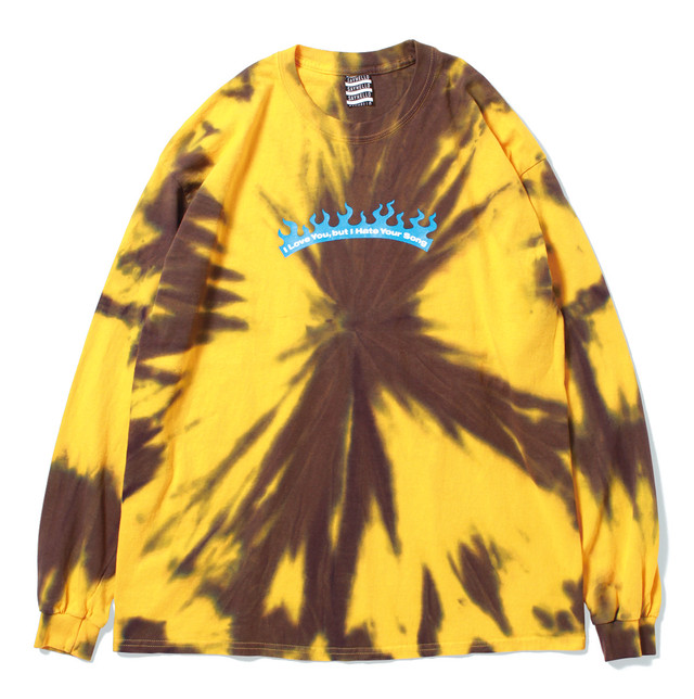 SAYHELLO/Love & Hate Tie-dye L/S Tee