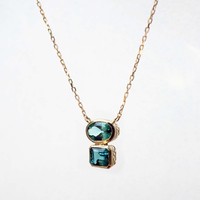 Indigorite Tourmaline Double Necklace