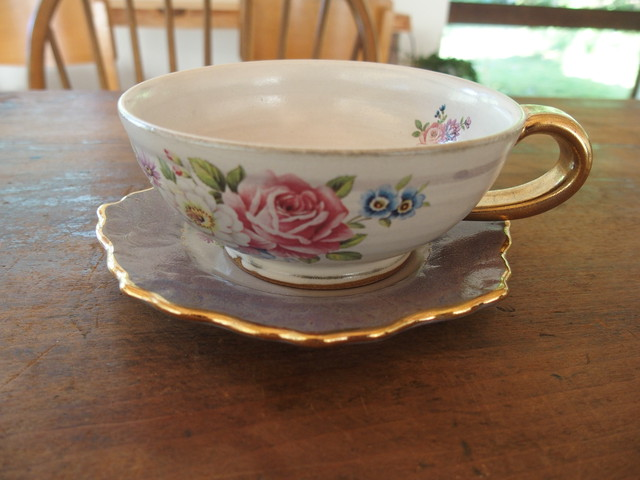 比留間郁美 薔薇のカップ&ソーサー