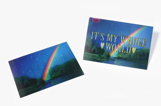 「WORLD」レンチキュラーカード
