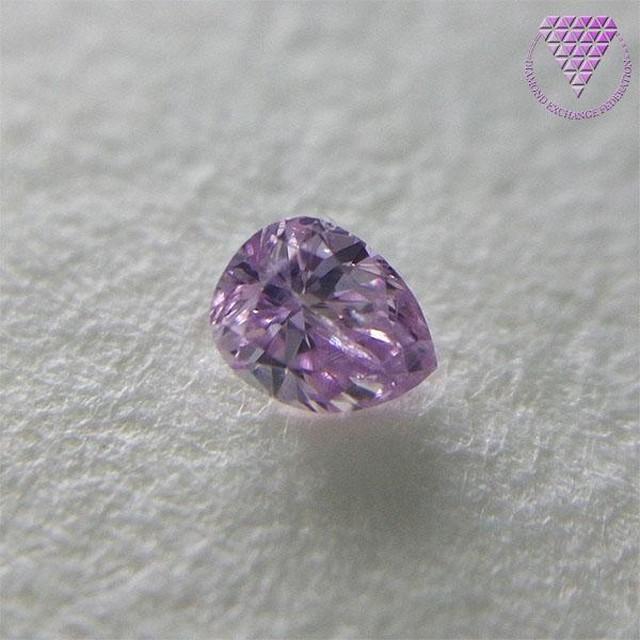 0.038 ct F. Int. Pink Purple I2 天然 ダイヤ