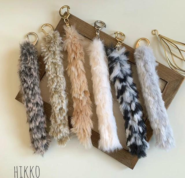 hikko☆ネコのしっぽキーホルダー