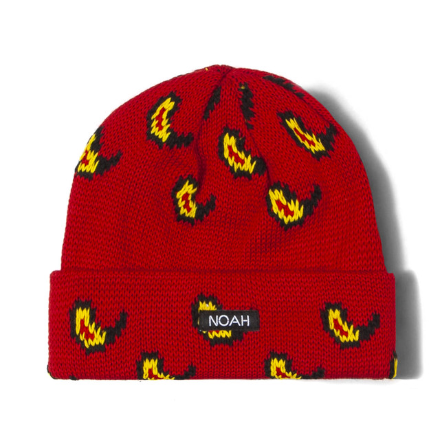 Jaquard Paisley Beanie(Red)