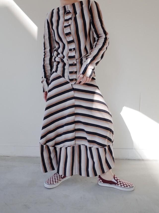 used stripe & border dress