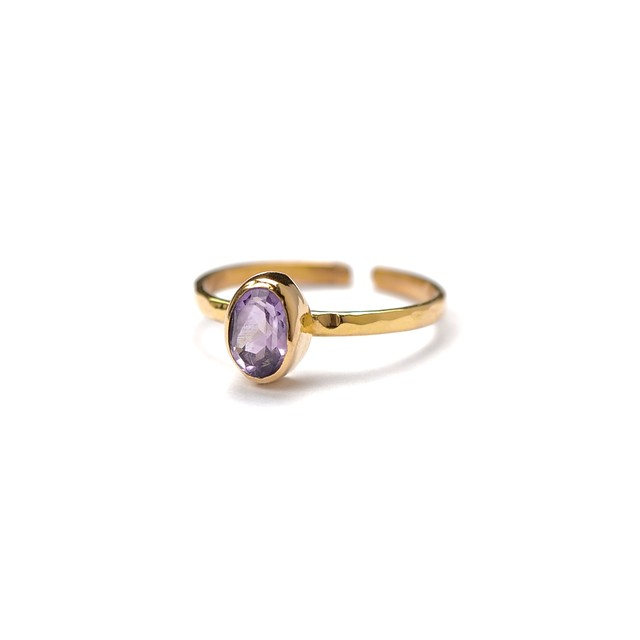 SINGLE PETIT STONE ADJUSTABLE RING 003