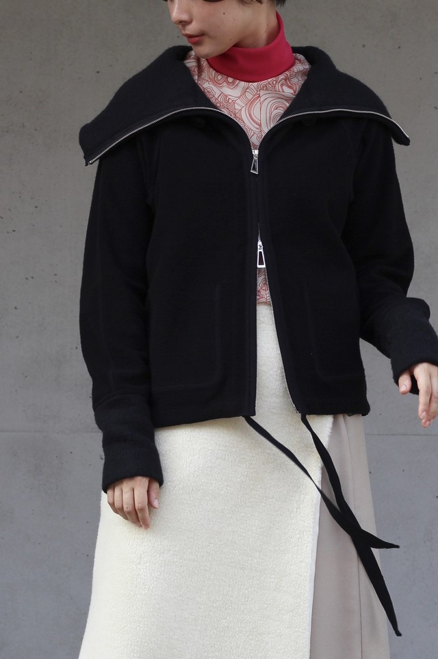 【KOTONA】pile zip up sweat