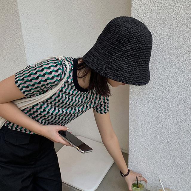 Summer straw Bucket Hat