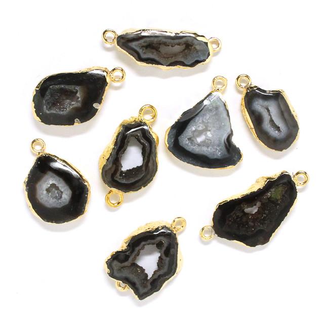 [天然石 パーツ]ドゥルージーアゲート(ブラック)1個