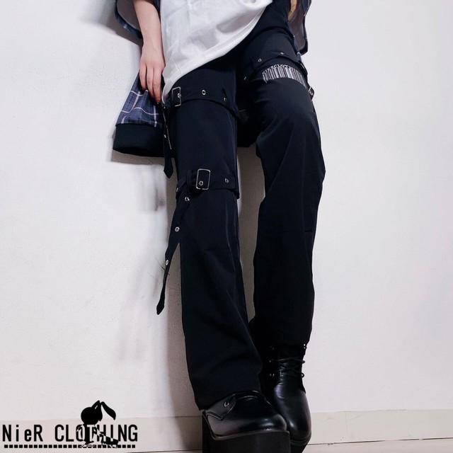 4BELT×4POCKET BLACK PANTS