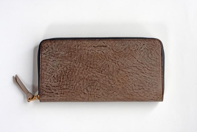 ※完売※◆スミス_ダークブラウン ◆1点物◆外装◆おとな財布◆ラウンドジップ