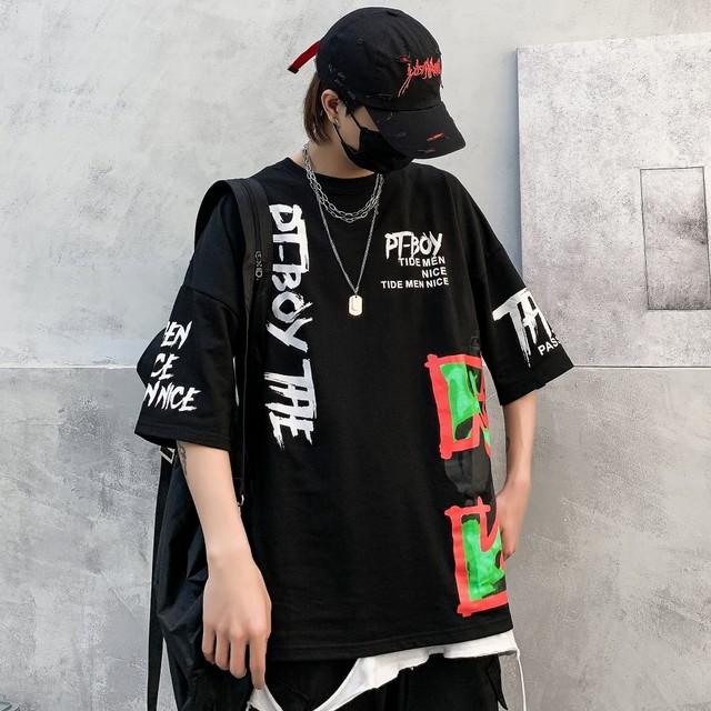 【トップス】ペアルックストリート系プリントヒップポップTシャツ32446862