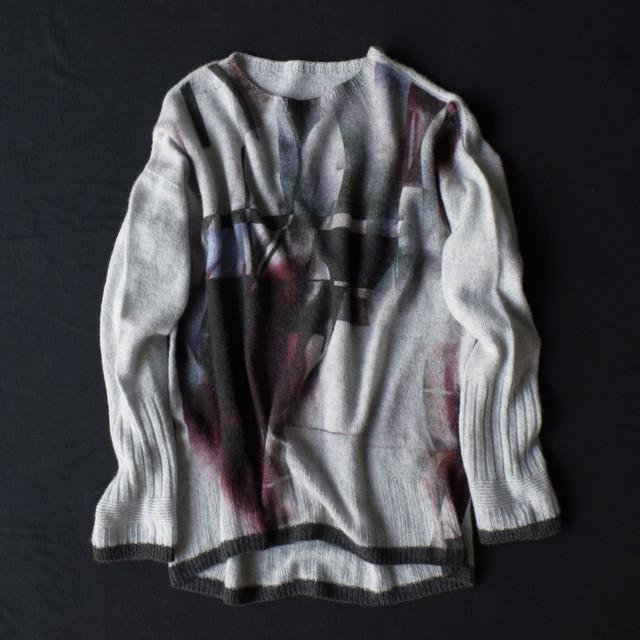 marumasu SMOKEY GRID[red×gray]カシミヤ100%