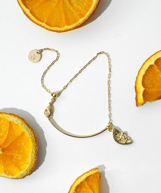 オレンジブレスレット