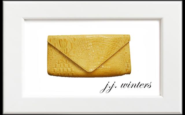 JJ winters/ジェイジェイ・ウィンターズ クロコクラッチバッグ/イエロー