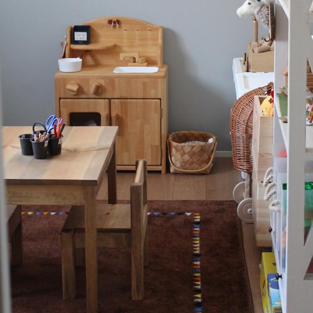 【受注生産品】人気商品:モンテッソーリの先生が考えた子ども机※ご注意:子ども机の専用カートです。他の商品を入れないようお願い致します。