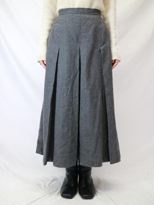 wool  flare tuck skirt【0263】