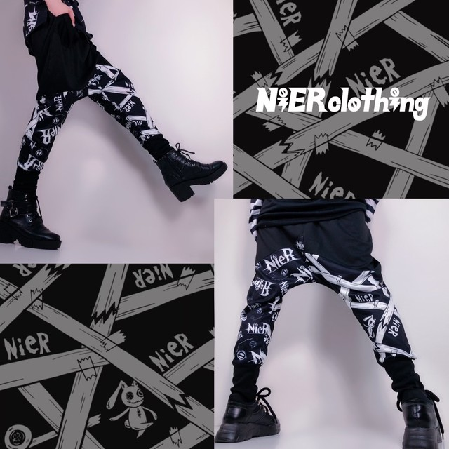 STYLISH SARROUEL PANTS【NieR pattern】
