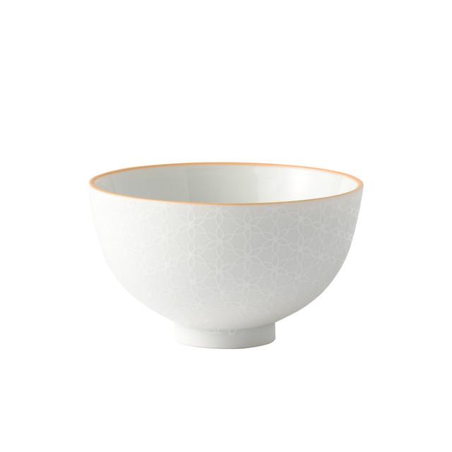 白盛茶碗 にらはな