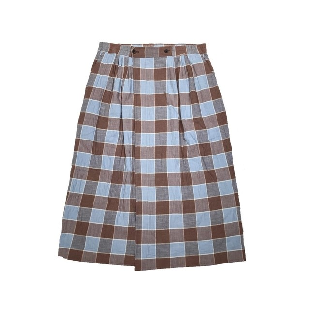 【HOMELESS TAILOR】CHECK WRAP SKIRT