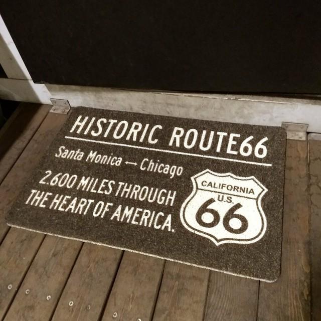 ROUTE66 玄関マットルート66 屋外 室内 滑り止め フロアーマット コイルマット アメリカンフラッグ インテリア おしゃれ ルート66 マット COIL MAT S サイズ るーと route66