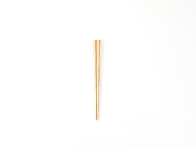 プラム工芸|斧折樺のこども五角箸|16cm