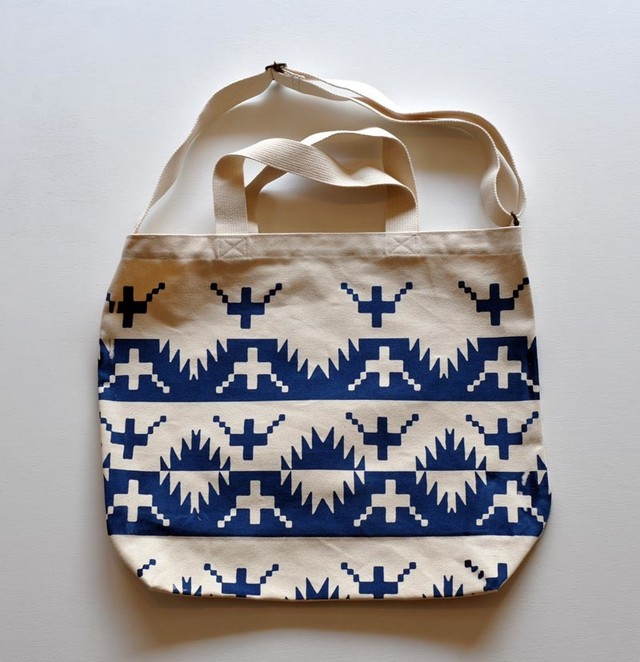 TACOMA FUJI RECORDS ALASKAN KING CRAB TOTE NATURAL/NAVY