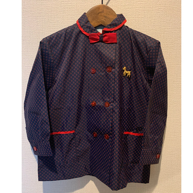 【KIDS】70's school blouse - French - Size 2.3years