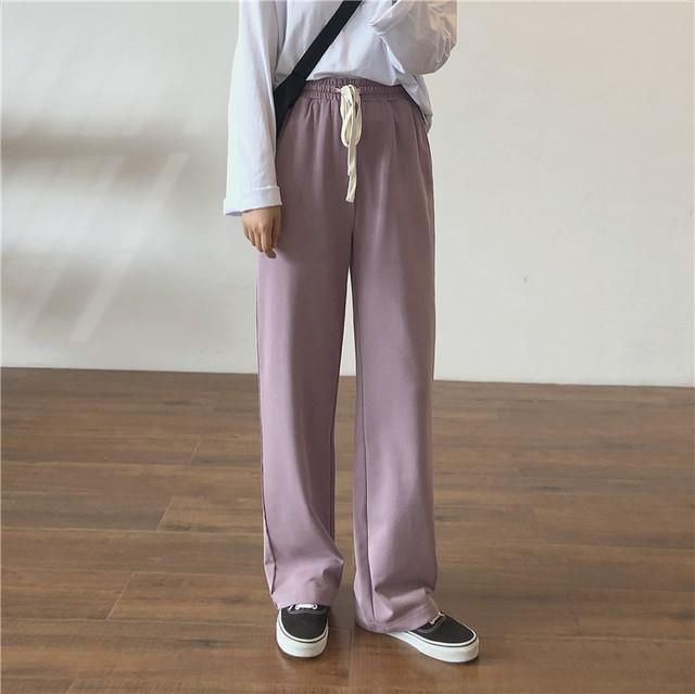 ハイウエスト巾着ワイドパンツ【high waist purse wide pants】