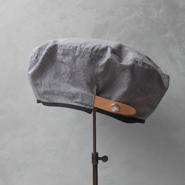 Nine Tailor Dish beret Gray check